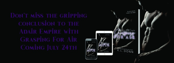 COVER REVEAL for GRASPING FOR AIR by KL Donn!
